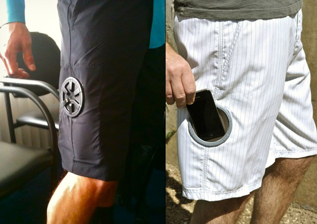 Stash Shorts with Waterproof Pocket | Cool Material