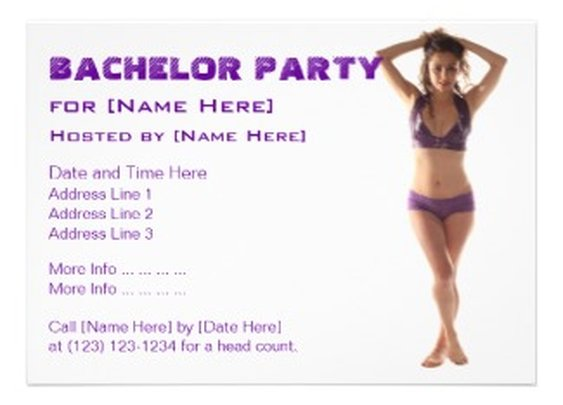 Amazing Zazzle: Zazzle Invitation from H. Lehnerer: Bachelor Party