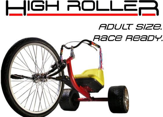 The HIGH ROLLER: Adult Size Big Wheel Trike by Matt Armbruster