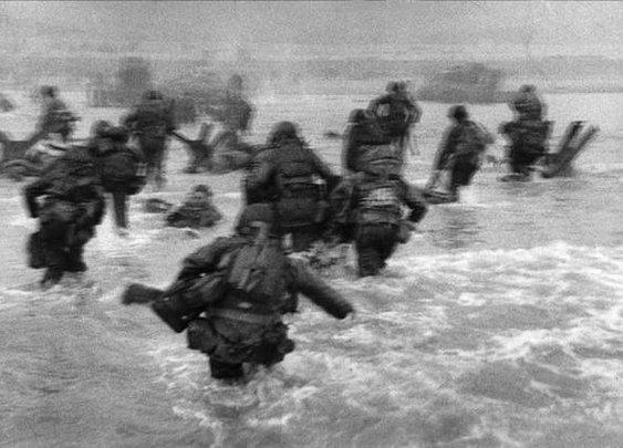 Bloody Omaha - photo by Robert Capa, June 6 1944