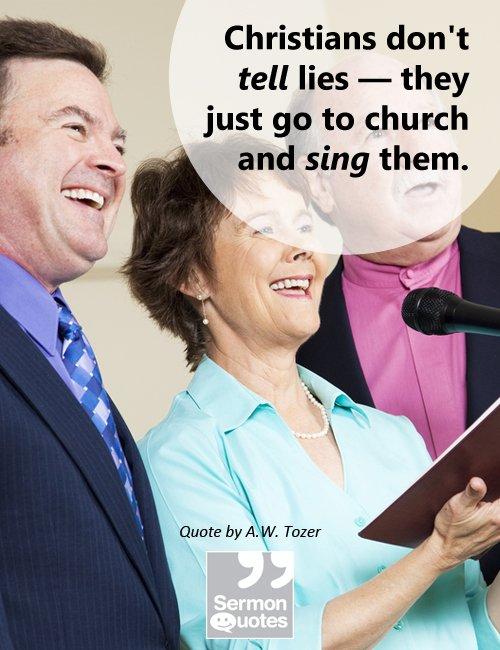 Christians Don't Tell Lies!