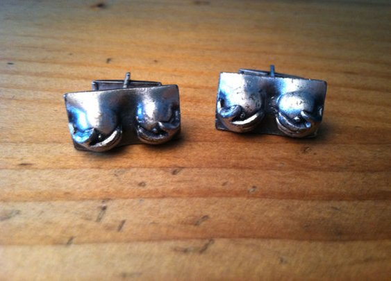 Cheeky Risqué Mens Cuff Links by UnisonGeneral on Etsy