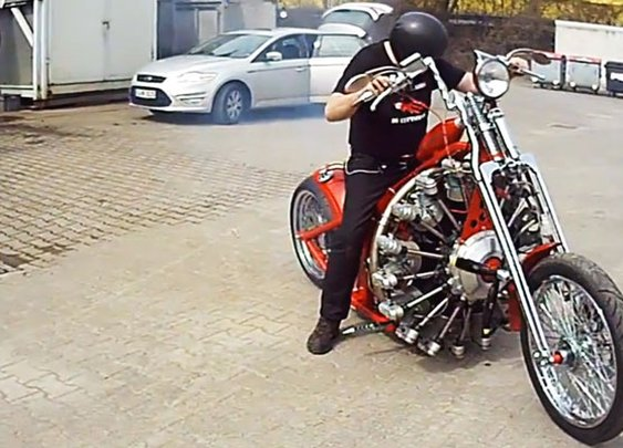 Man Puts Plane Engine In Bike- With Video