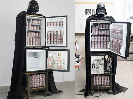 Darth Vader Beer Fridge And Vodka Fountain | Geekologie