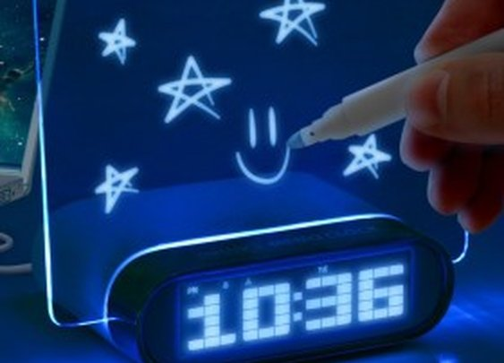 Glowing LED Memo Alarm Clock