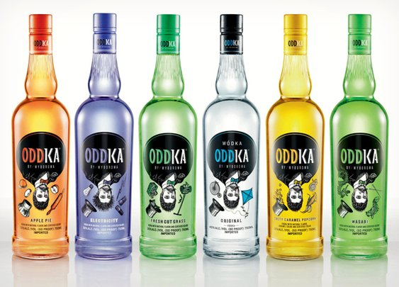 Oddka Unusual Vodka Flavors - Wasabi, Apple Pie | Cool Material