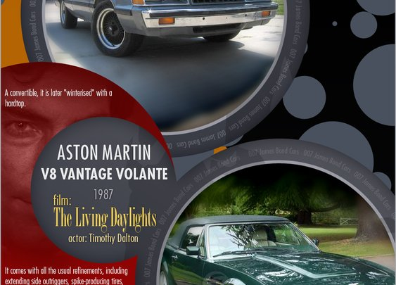 James Bond's Cars [INFOGRAPHIC]