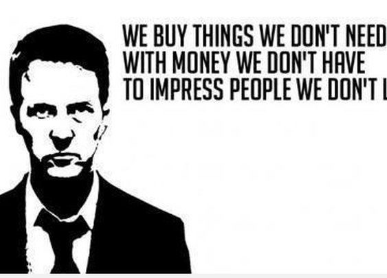 'Fight Club' Take on Materialism