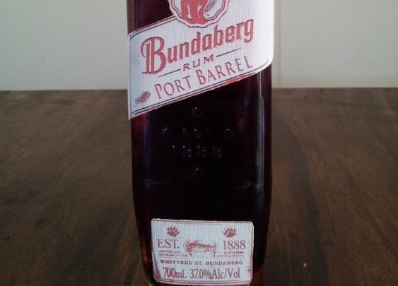 Home blended Bundaberg rum port barrel