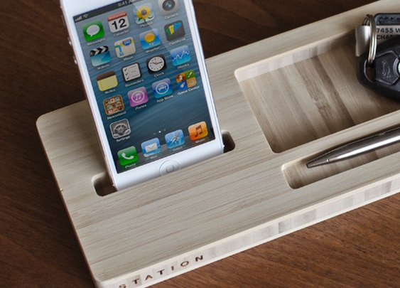Station - Modern Bamboo Desk Caddy