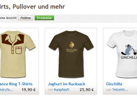 individuelle T-Shirts bei spreadshirt.de selbst gestalten