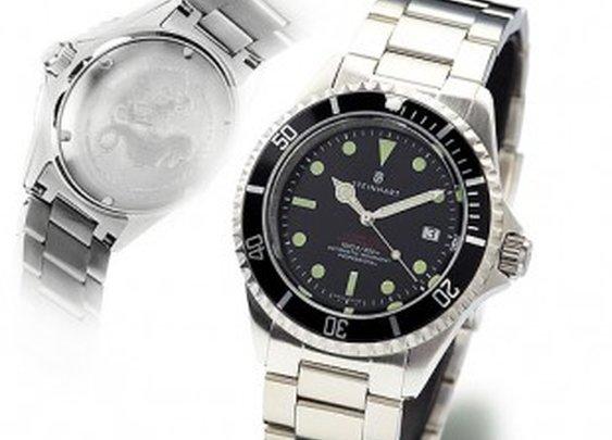 OCEAN 1 VINTAGE red - Diver Watch - Steinhart Watches