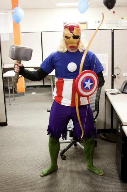 A Guy Dresses Up as All of 'The Avengers' at Once