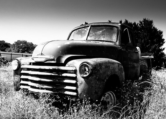Ole Chevy in the field
