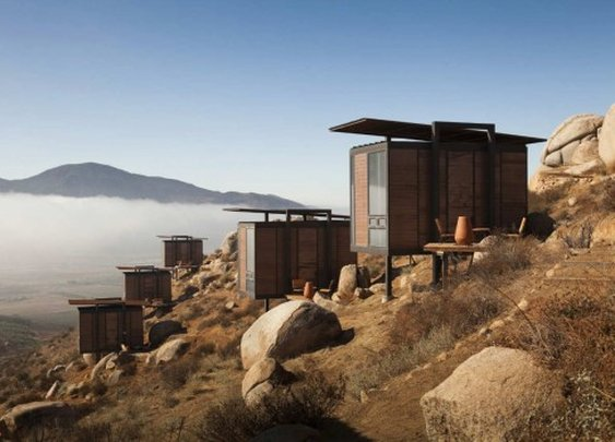 Camping in style in Baja's wine country