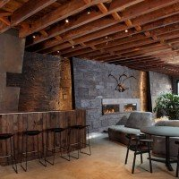 Dark and Rustic Bachelor's Gramercy Park Loft