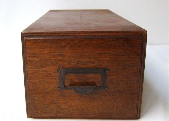 Vintage mid century industrial office oak wood veneer by evaelena