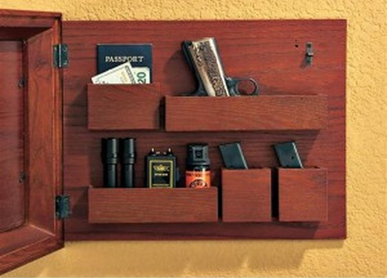Secret Compartment Behind Picture Frame