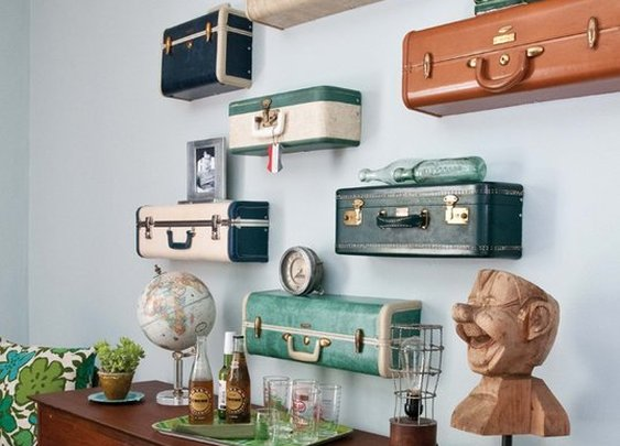Vintage Suitcase Shelves | That Should Be Mine