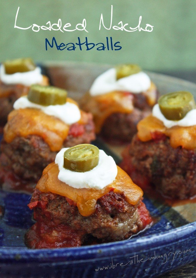 Loaded Nacho Meatballs (Low Carb and Gluten Free) - I Breathe... I'm Hungry...
