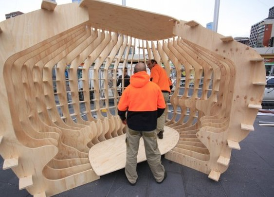 Emergency shelter prototype assembles like an Ikea cupboard
