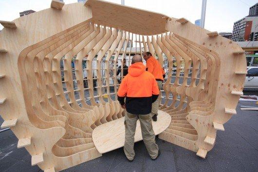Emergency shelter prototype assembles like an Ikea cupboard