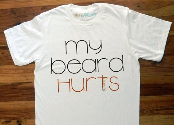 My Beard Hurts TrulySanctuary Men's Perfect Fit by trulysanctuary