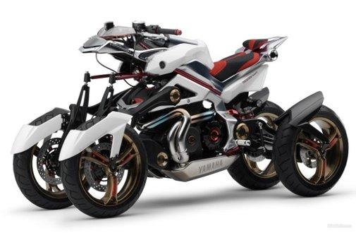 Yamaha Tesseract four-wheeled motorcycle