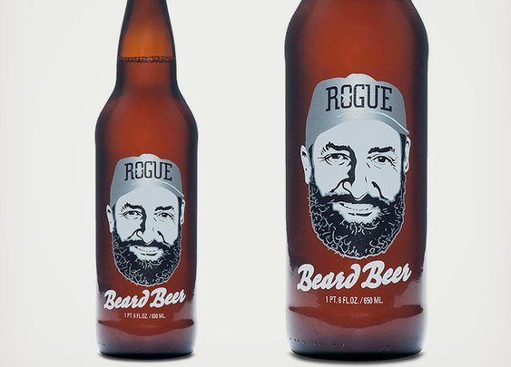 Rogue Beard Beer Made With Beard Yeast | Cool Material