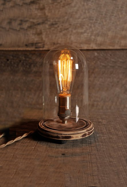 The Original Bell Jar Table Lamp Includes by SouthernLightsTN