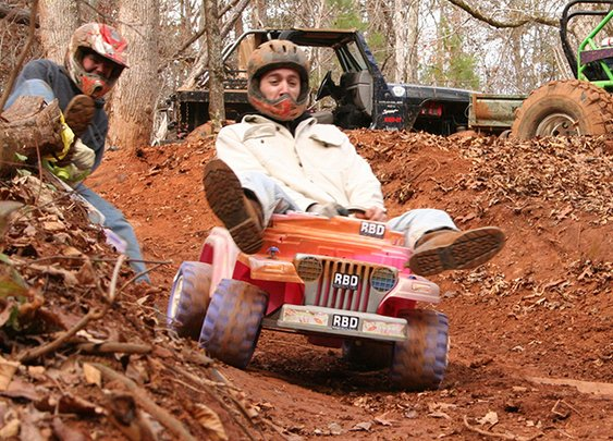 Extreme Barbie Jeep Racing, A Dangerous Downhill Challenge in Plastic Toy Vehicles