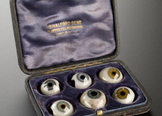 Ten Assorted Artificial Eyes