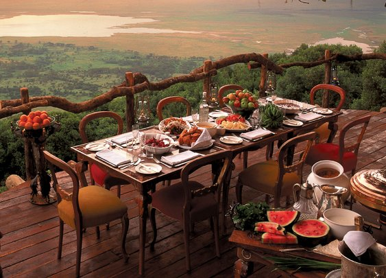 The Ngorongoro Crater Lodge in Tanzania