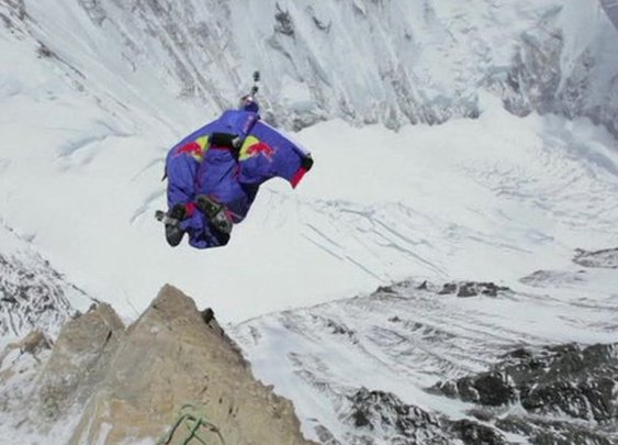 BBC News - Mount Everest base jump marks 60th anniversary of first ascent