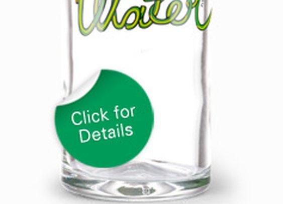 Glass water bottles  - Faucet Face