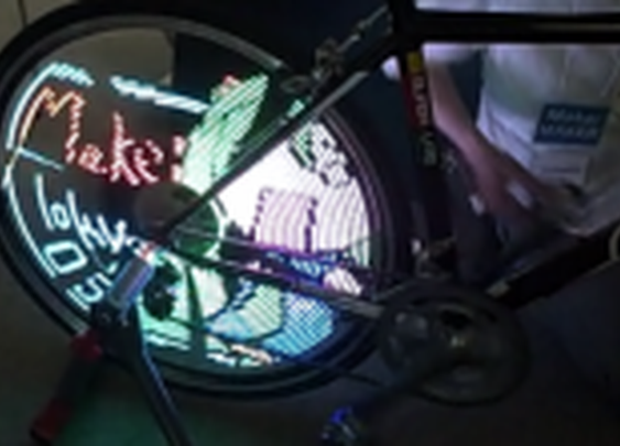 Monkey Light Pro turns bicycle wheels into colorful, animated displays