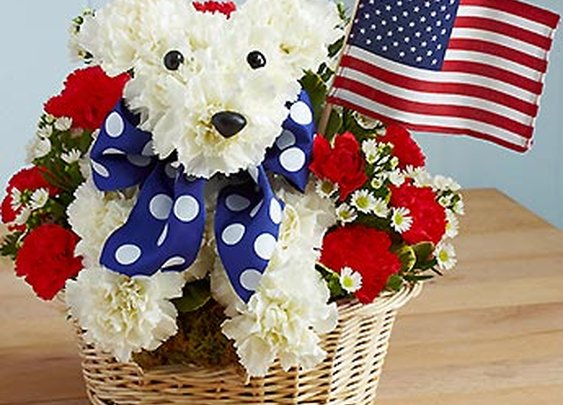 4th of July Flower decorations