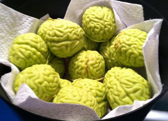 Cherry Filled Chocolate Zombie Brains