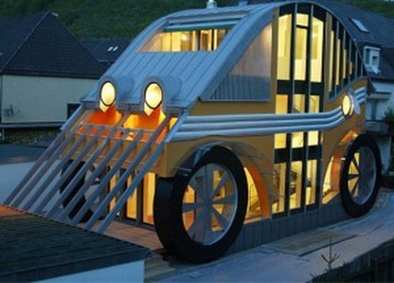 Car-shaped House: I Call Shotgun