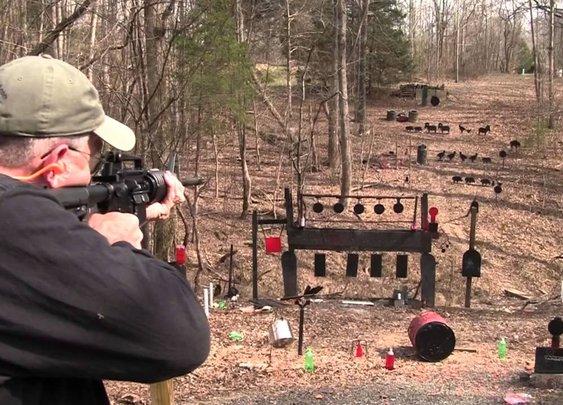 Home Defense:  Double Barrel Shotgun vs AR15 - YouTube