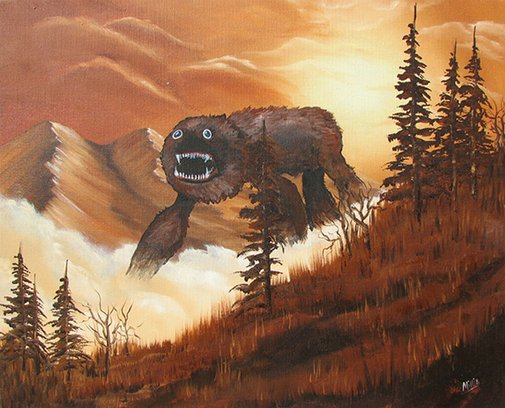 Boring Thrift Store Paintings Get Jazzed Up With Monsters | Incredible Things