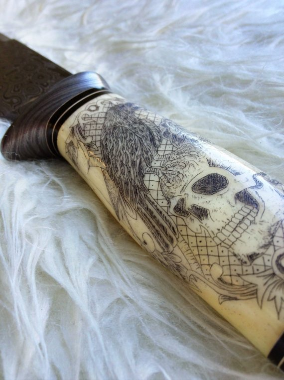 Handmade Damascus Steel Dagger