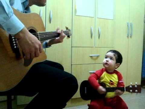 Don't Let Me Down - The Beatles- Duet Father and 2 Year Old Son