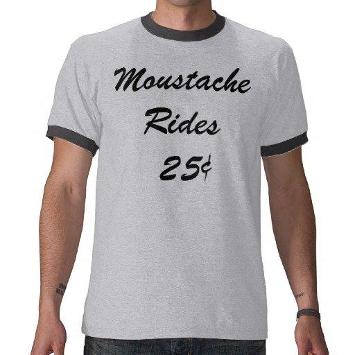 Moustache Rides Tee Shirt