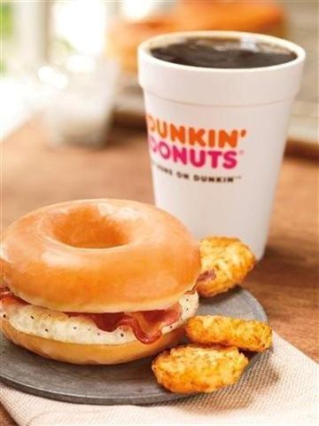 Dunkin' taking doughnut bacon sandwich national