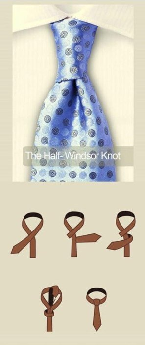 The half-Windsor knot
