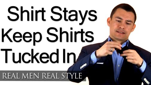 Men's Shirt Stays - Secret Weapon To Keep Your Dress Shirt Tucked In