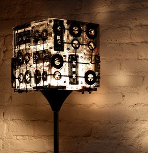 CASSETTE TAPES FLOOR LAMP