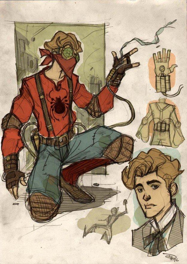 Denis Medri's steampunk Spider-Man