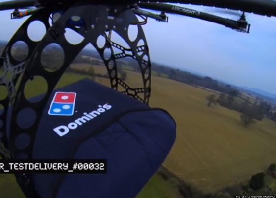 "Domino's new aerial drone delivers pizza, dubbed the ""DomiCopter"""